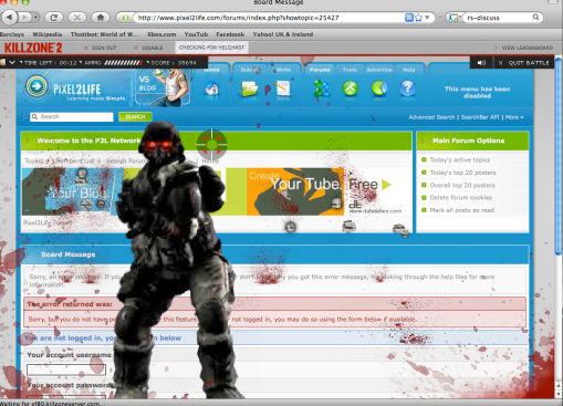 Killzone web game action 2