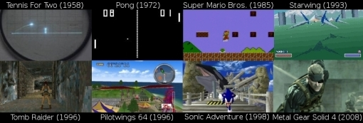Above: A brief history of the evolution of gaming's visuals